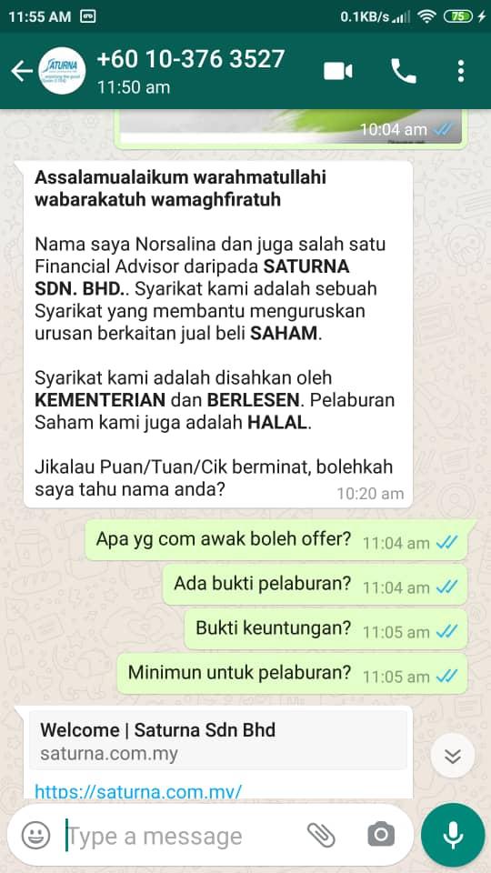 Whatsapp Fraud Alert Screenshot 2